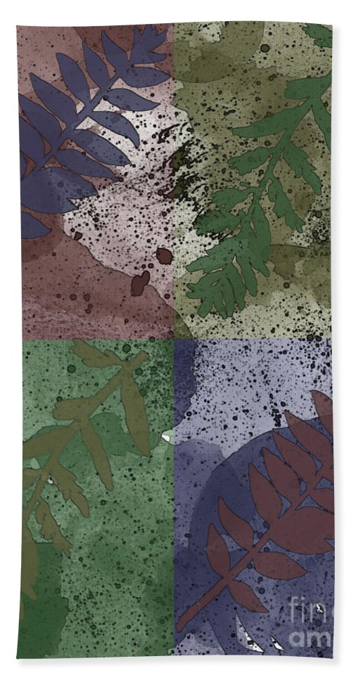 Nature Beach Towel featuring the digital art Leaf Boxes by Debbie Portwood