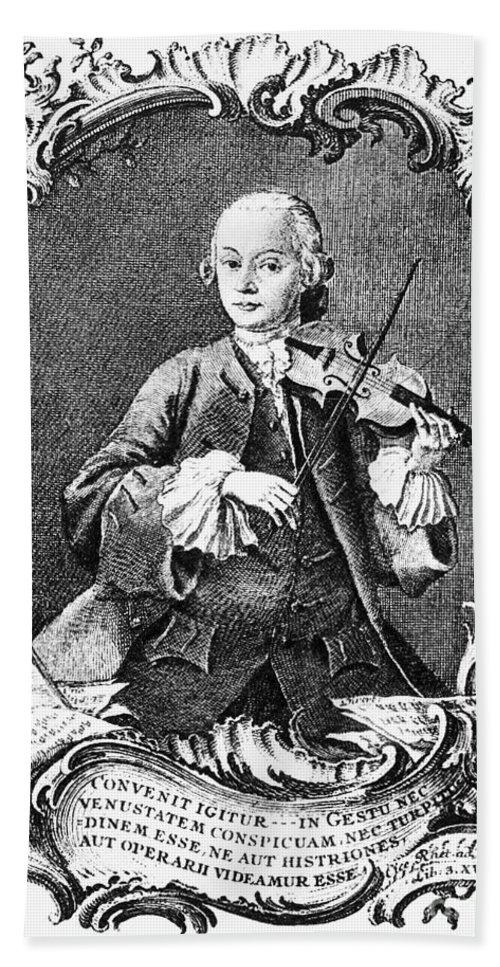 1756 Beach Towel featuring the photograph Leopold Mozart (1719-1787) by Granger