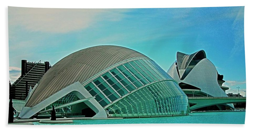 Europe Beach Towel featuring the photograph L'hemisferic - Valencia by Juergen Weiss
