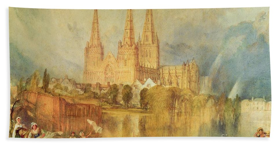 Lichfield Beach Towel featuring the painting Lichfield by Joseph Mallord William Turner