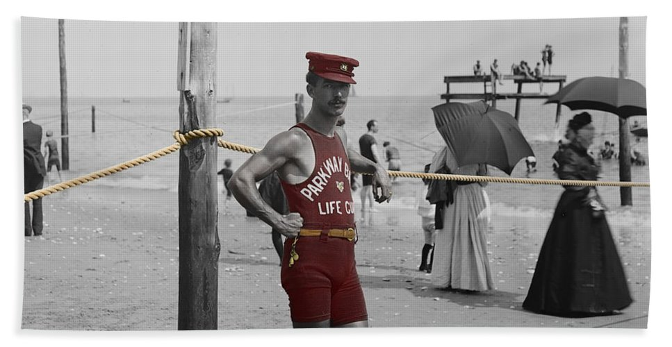 Beach Beach Towel featuring the photograph Lifeguard by Andrew Fare