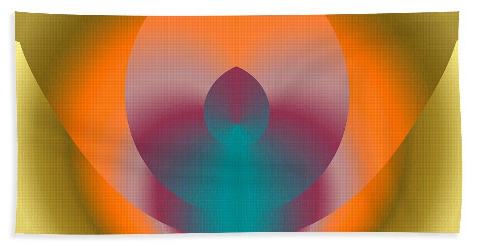 Flower Beach Towel featuring the digital art Light Elements by Mark Greenberg