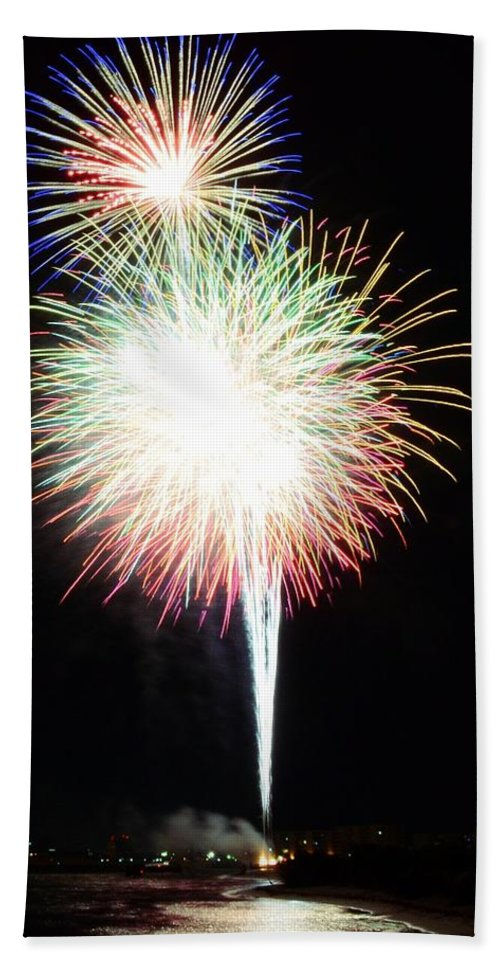 Fireworks Beach Towel featuring the photograph Light Up The Night by David Morefield