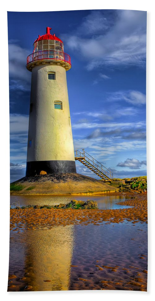 Beach Beach Towel featuring the photograph Lighthouse by Adrian Evans
