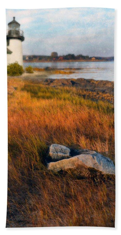 Lighthouse Beach Towel featuring the photograph Lighthouse At Dawn by Jill Battaglia