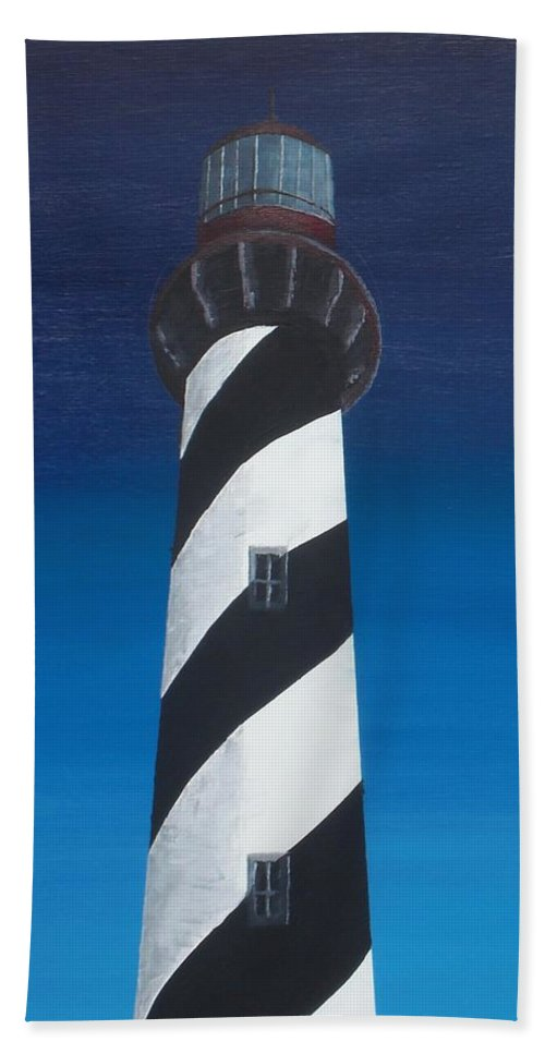Lighthouse Beach Towel featuring the painting Lighthouse by Kelvin Kelley