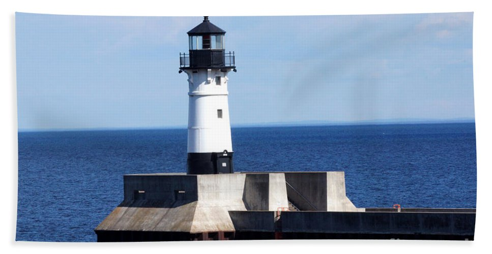 Lighthouse Beach Towel featuring the photograph Lighthouse by Lori Tordsen