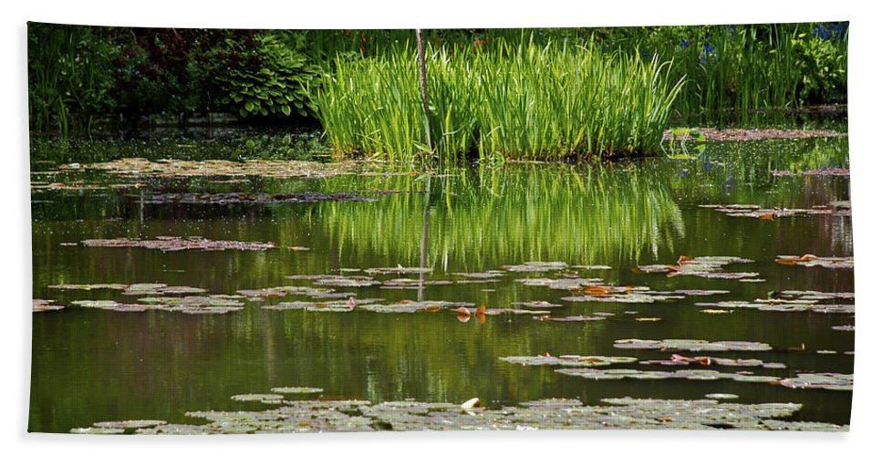 Monet Beach Towel featuring the photograph Lily Pads At Giverney by Eric Tressler