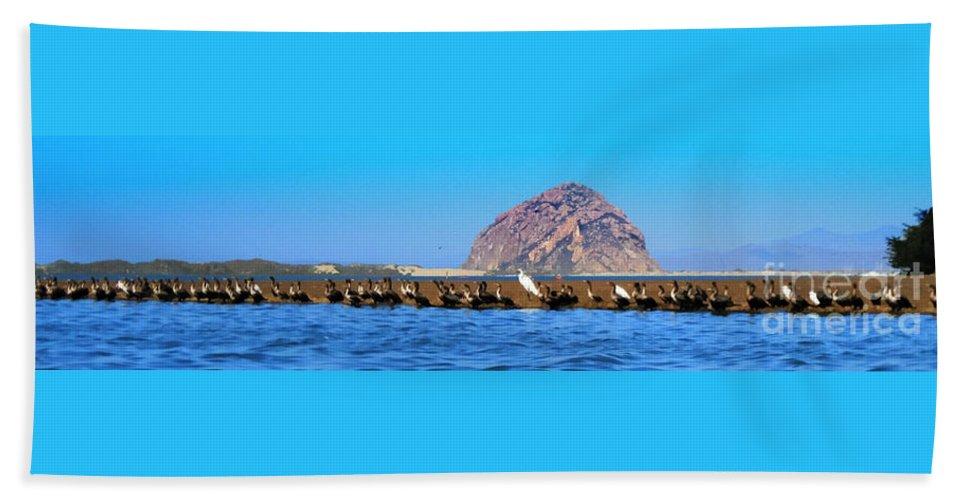 Birds Beach Towel featuring the photograph Line Up by Tap On Photo