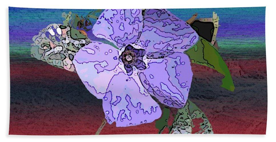 Flower Beach Towel featuring the digital art Little Blue by Tim Allen