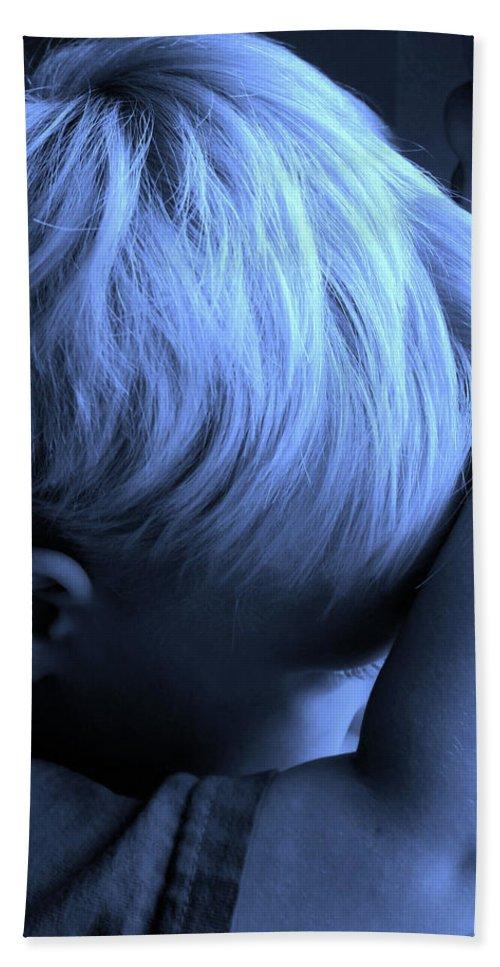 Blue Beach Towel featuring the photograph Little Boy Blue by Kristin Elmquist