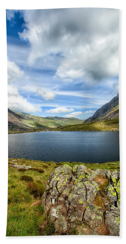Plants Beach Towel featuring the photograph Llyn Idwal Lake by Adrian Evans