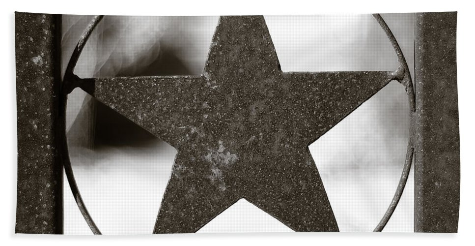 Black And White Beach Towel featuring the photograph Lone Star by Sean Wray