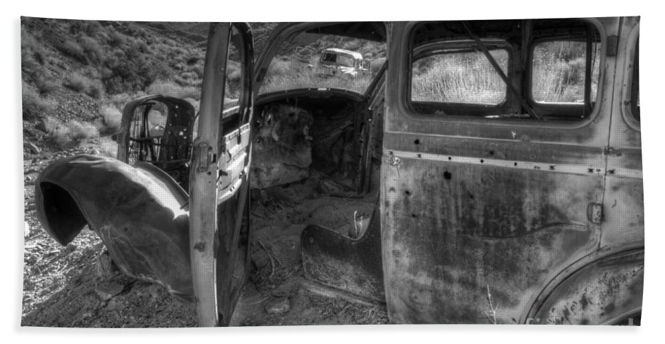 Old Cars Beach Towel featuring the photograph Long Forgotten by Bob Christopher