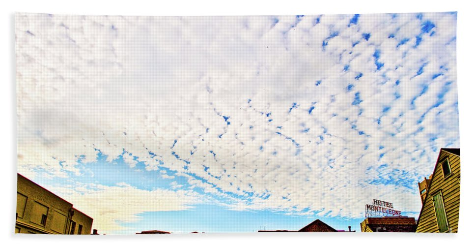 Sky Beach Towel featuring the photograph Looking Up Above 2 by Frances Hattier