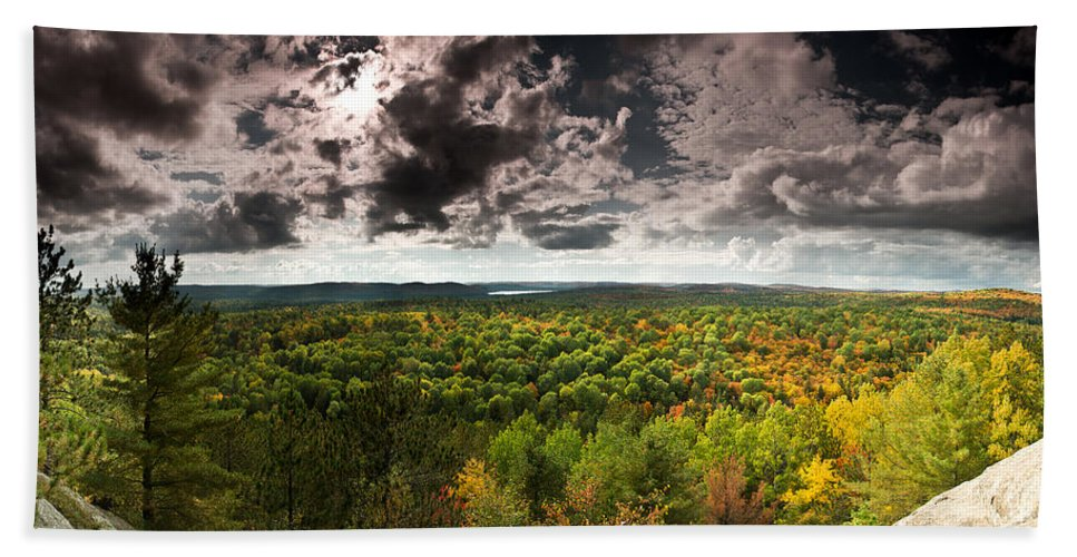 Algonquin Beach Towel featuring the photograph Lookout Trail by Cale Best