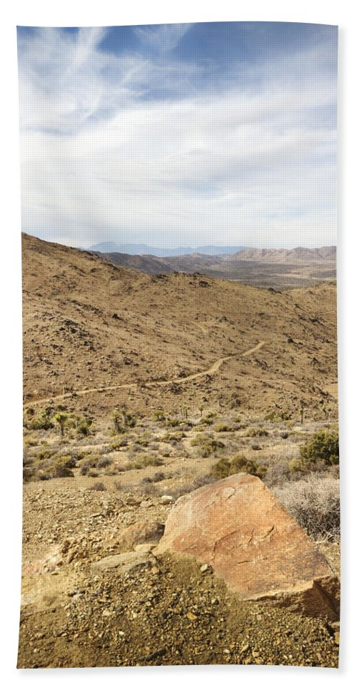 Lost Horse Mine Trail Beach Towel featuring the photograph Lost Horse Mine Trail 3 by Jessica Velasco