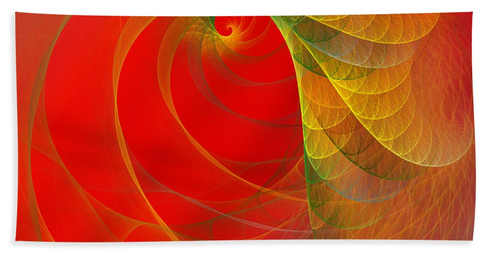 Fractal Beach Towel featuring the digital art Loud by Betsy Knapp