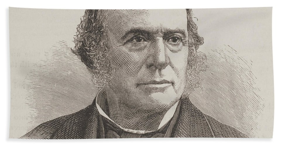 Science Beach Towel featuring the photograph Louis Agassiz, Swiss-american Polymath by Science Source