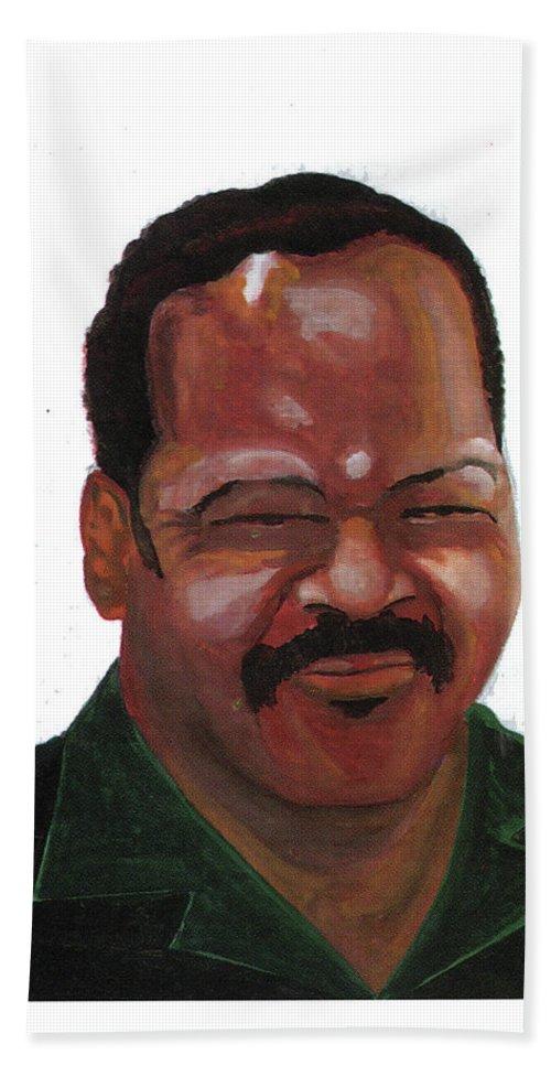 Portraits Beach Towel featuring the painting Louis Jackson Jesse by Emmanuel Baliyanga