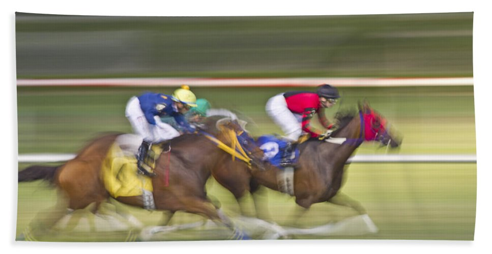 Horse Beach Towel featuring the photograph Love Of The Sport by Betsy Knapp