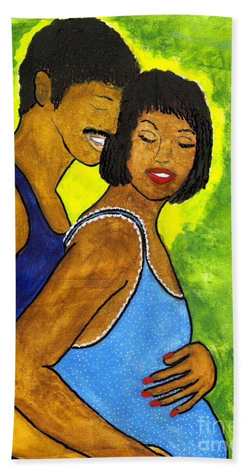Woman Beach Towel featuring the painting Love's Gift by Angela L Walker