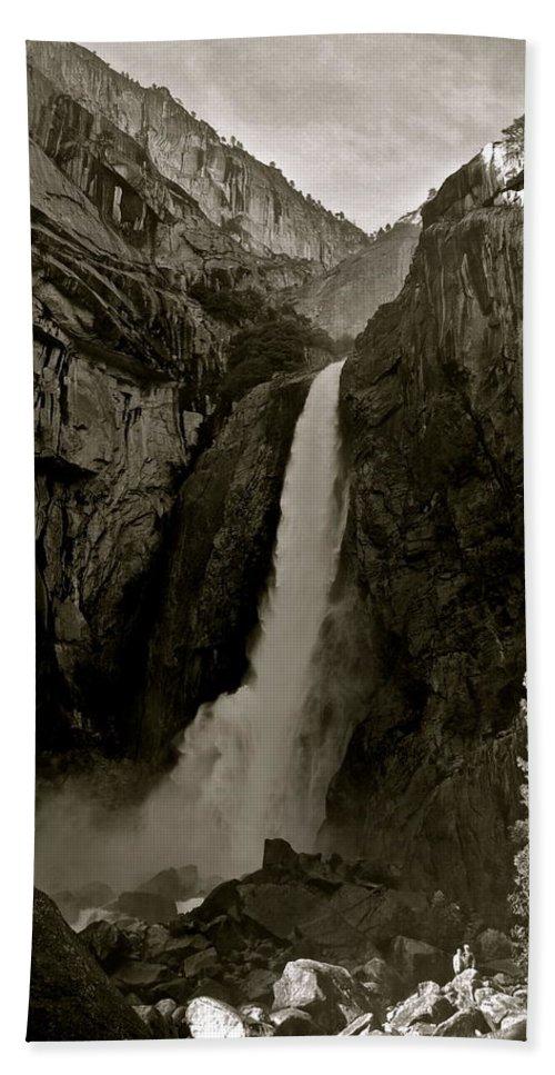 Yosemite Beach Towel featuring the photograph Lower Yosemite Falls by Eric Tressler