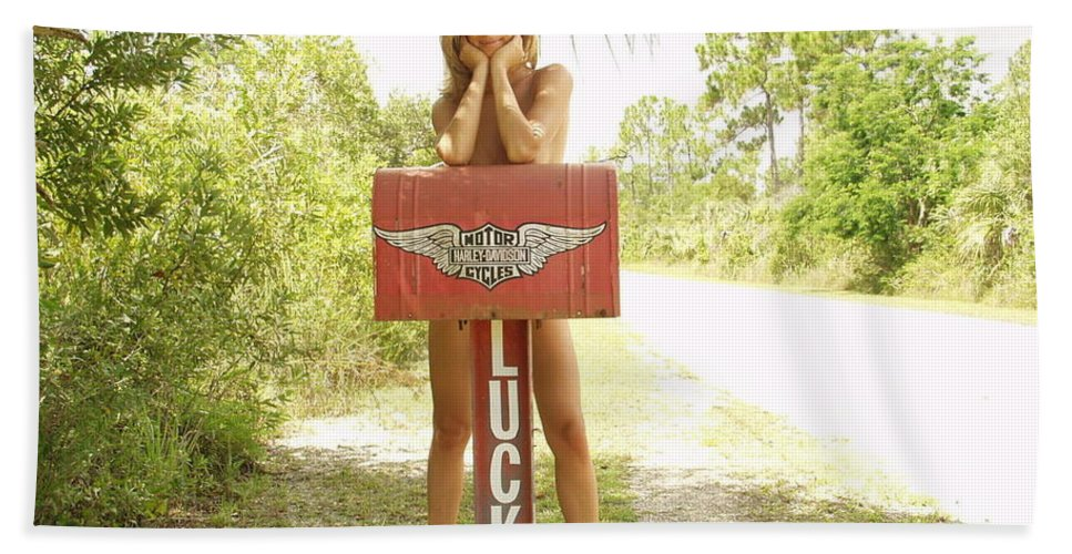 Everglades City Fl.professional Photographer Lucky Cole Beach Towel featuring the photograph Mailbox 073 by Lucky Cole