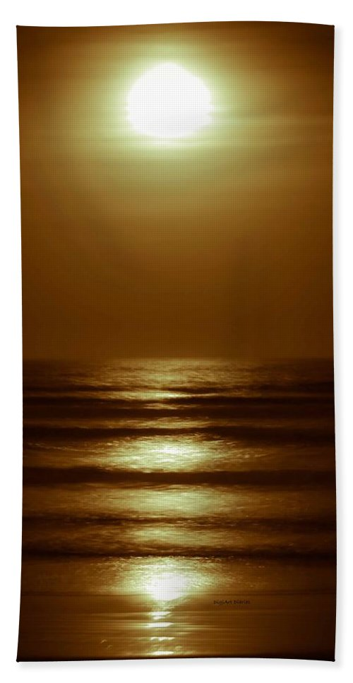 Moon Beach Towel featuring the photograph Lunar Tides I by DigiArt Diaries by Vicky B Fuller