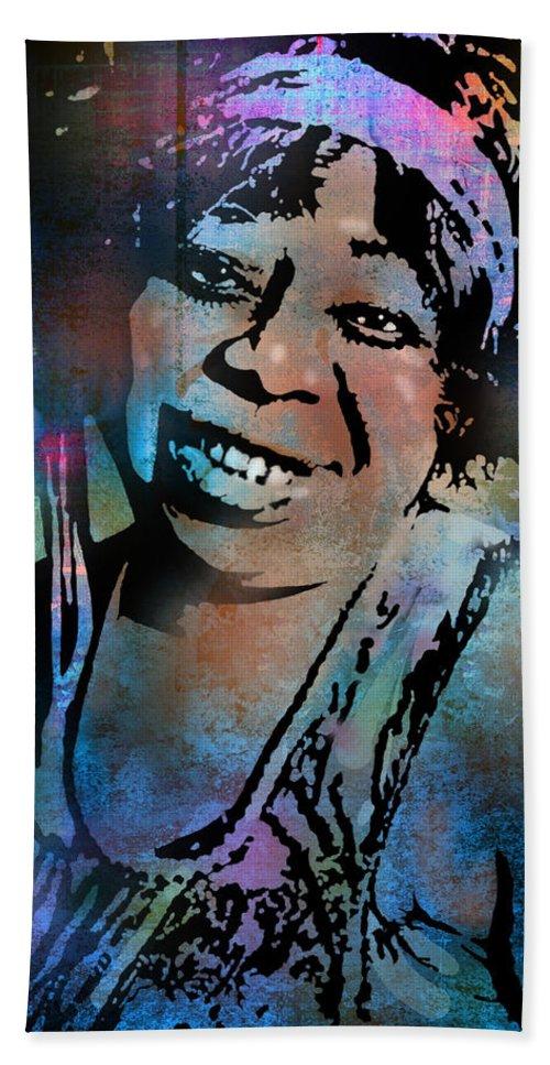 Blues Beach Towel featuring the painting Ma Rainey by Paul Sachtleben