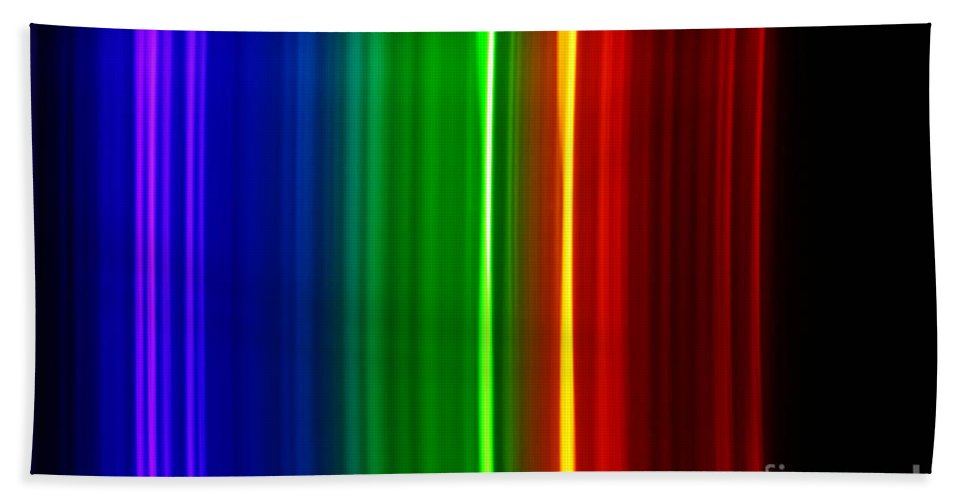 Atomic Beach Towel featuring the photograph Macro Bromine Spectra by Ted Kinsman