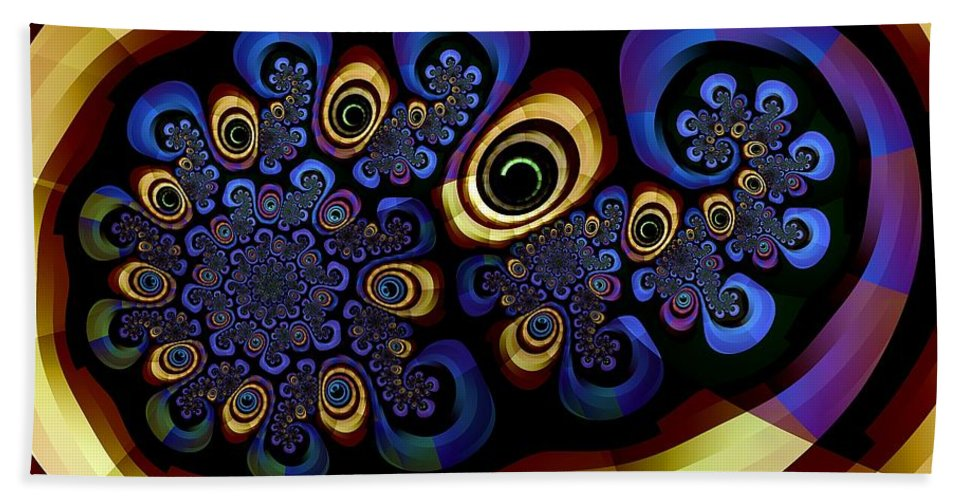 Fractal Beach Towel featuring the digital art Mad About Brubeck by Richard Kelly