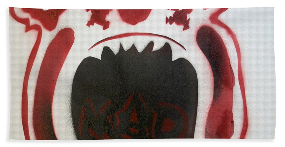 Tillie Of Asbury Park Beach Towel featuring the painting Mad O Rama Flamin Red by Patricia Arroyo