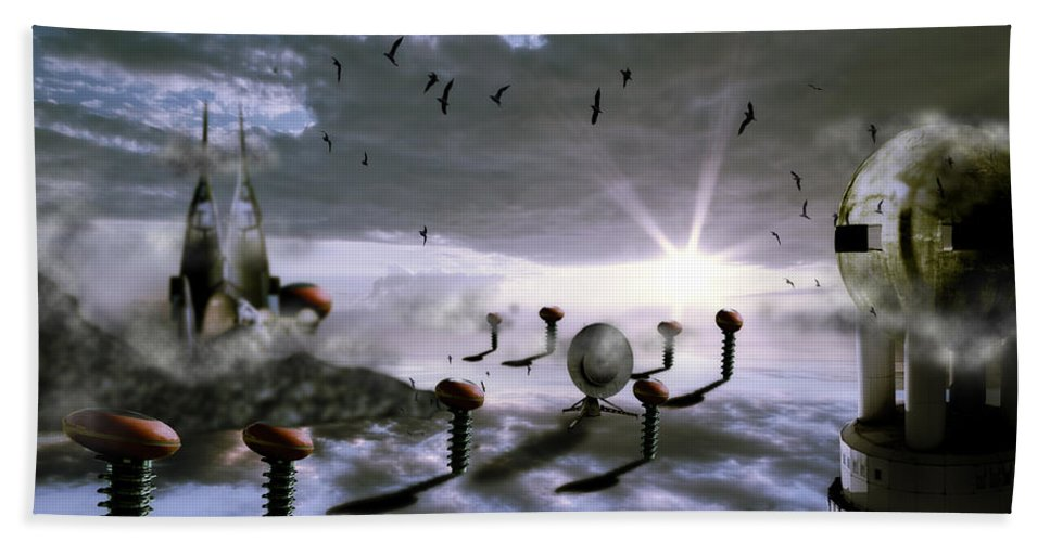 Alien Beach Towel featuring the photograph Magic Shrooms by Nathan Wright
