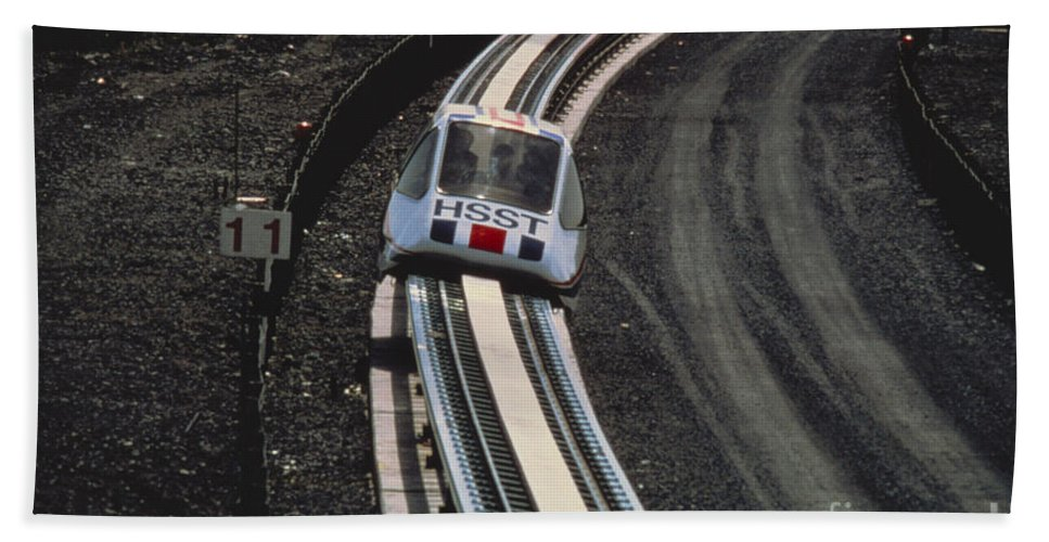Train Beach Towel featuring the photograph Maglev Train, Japan by Japan Airlines