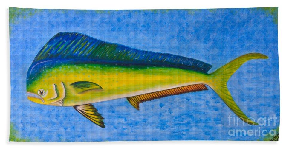 Mahi Mahi Dolphin Fish | Mahi Mahi Dolphin Fish Beach Sheet For Sale By Susan Cliett