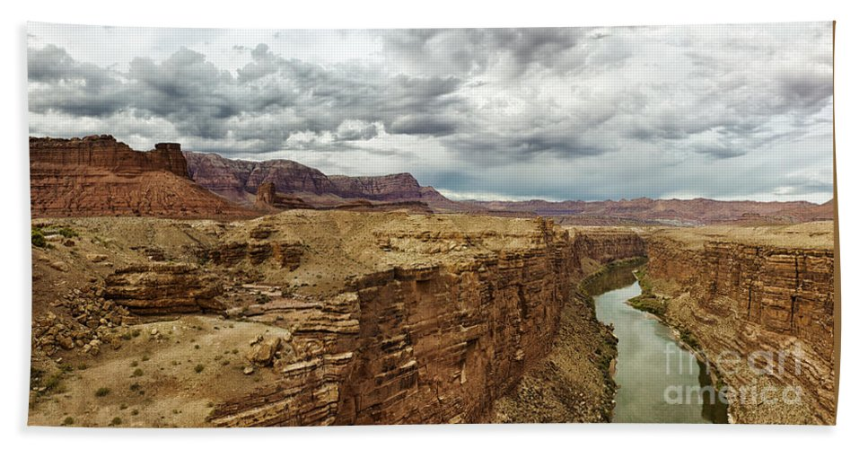 Marble Canyon Beach Towel featuring the photograph Marble Canyon Overlook by Sandra Bronstein