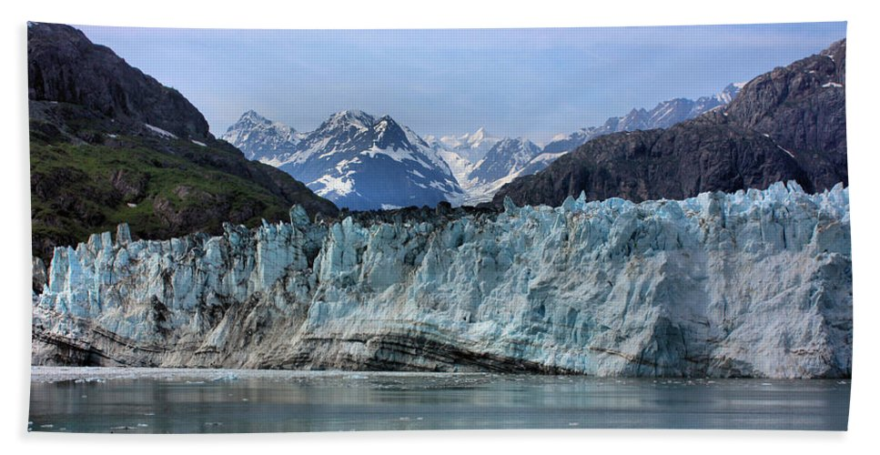 Margerie Glacier Beach Towel featuring the photograph Margerie Glacier by Kristin Elmquist