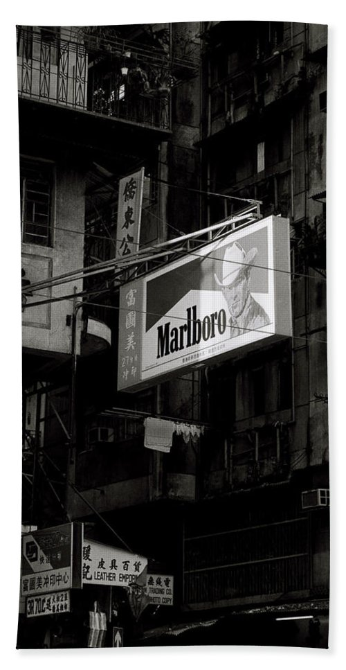 Commercial Beach Towel featuring the photograph Marlboro In Hong Kong by Shaun Higson