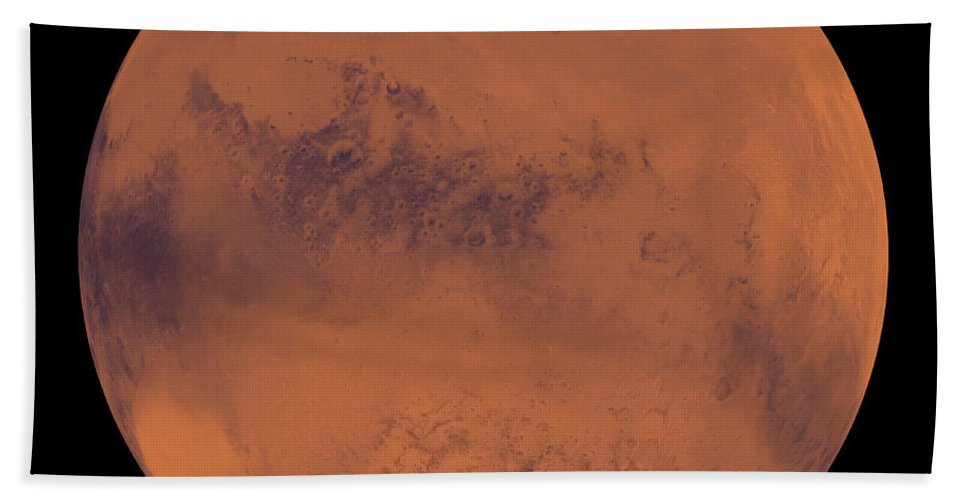 Ice Caps Beach Towel featuring the photograph Mars by Stocktrek Images