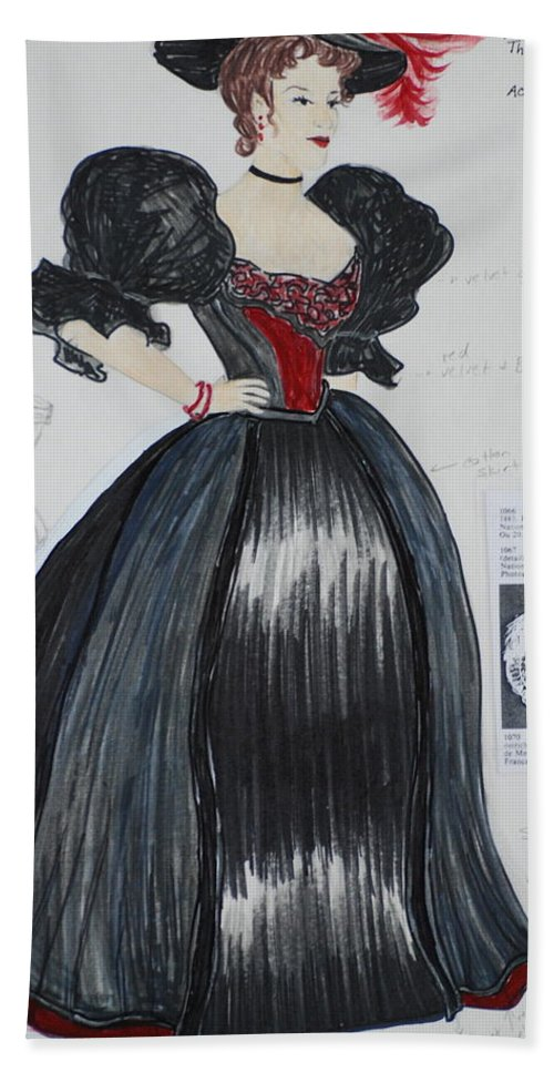 Gown Beach Towel featuring the mixed media Masha From 'the Three Sisters' by Jennifer Christenson