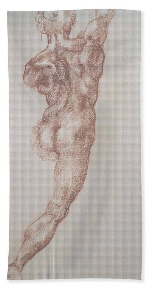 Drawing Beach Towel featuring the drawing Master Copy 1 by Jennifer Christenson