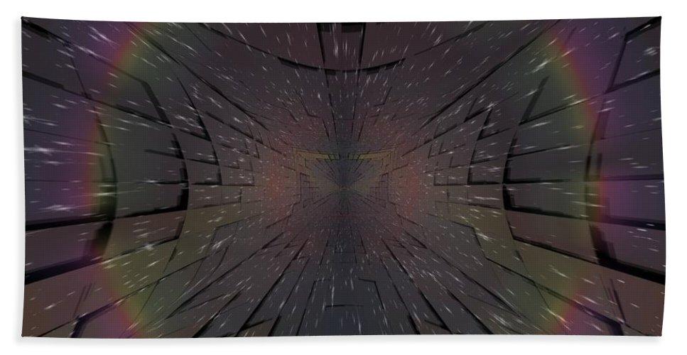 Matrix Beach Towel featuring the digital art Matrix by Tim Allen