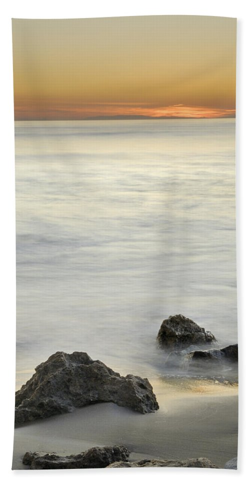 Seascape Beach Towel featuring the photograph Mediterranean Sunset by Guido Montanes Castillo