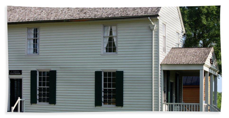 Appomattox Beach Towel featuring the photograph Meeks Store Appomattox Court House Virginia by Teresa Mucha