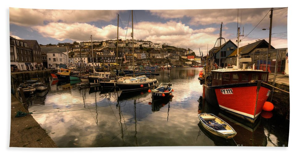Mevagissy Beach Towel featuring the photograph Mevagissy Harbour by Rob Hawkins