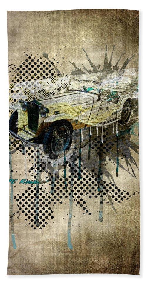 Active Beach Towel featuring the digital art Mg Tc Roadster by Svetlana Sewell