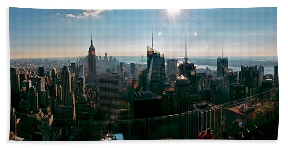 Panoramic Beach Towel featuring the photograph Midtown South by S Paul Sahm
