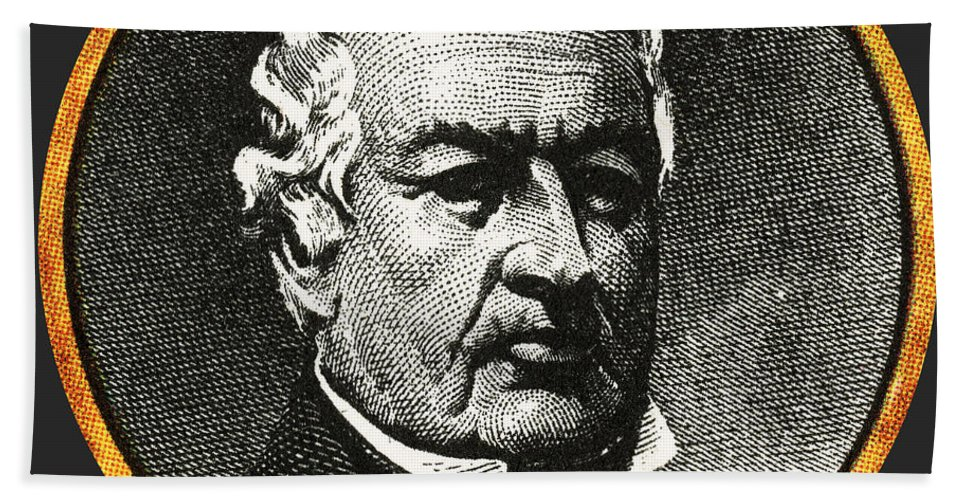 Millard Fillmore Beach Towel featuring the photograph Millard Fillmore by Photo Researchers