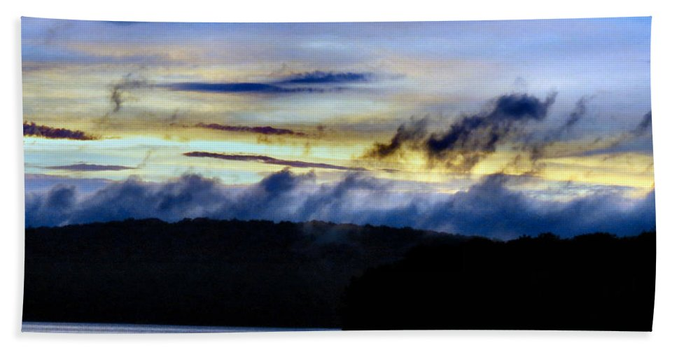 Bold Beach Towel featuring the photograph Mist After The Storm by Art Dingo